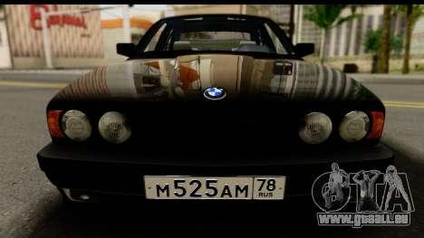 BMW M5 E34 pour GTA San Andreas sur la vue arrière gauche