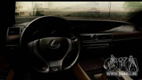 Lexus GS350 pour GTA San Andreas vue arrière