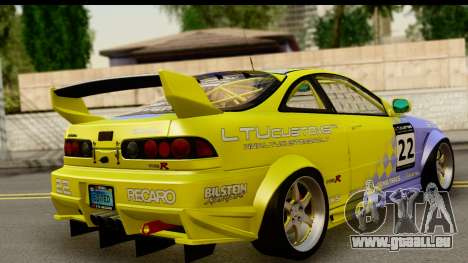 Acura Integra Type R 2001 pour GTA San Andreas laissé vue
