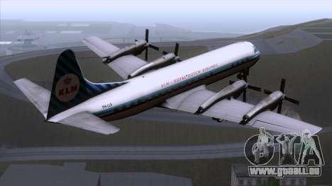L-188 Electra KLM v1 für GTA San Andreas linke Ansicht