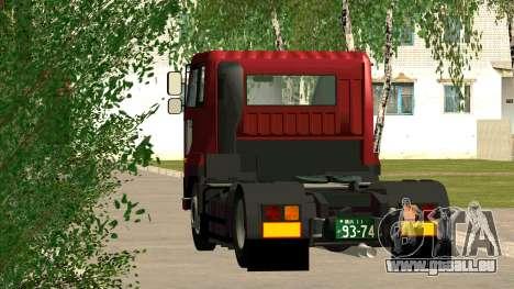 Nissan Diesel Bigthumb CK für GTA San Andreas zurück linke Ansicht