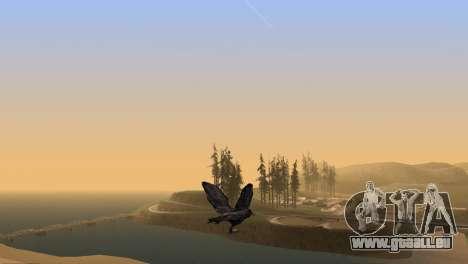 La possibilité de jouer pour les oiseaux v2 pour GTA San Andreas cinquième écran