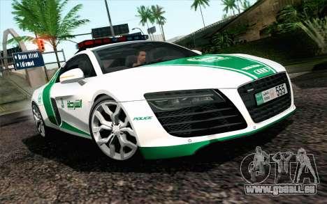 Audi R8 V8 FSI 2014 Dubai Police pour GTA San Andreas