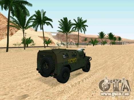 GAZ 2975 für GTA San Andreas zurück linke Ansicht