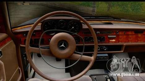 Mercedes-Benz 300 SEL 6.3 (W109) 1967 FIV АПП pour GTA San Andreas vue intérieure
