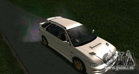 Subaru Impreza Sports Wagon WRX STI pour GTA San Andreas sur la vue arrière gauche