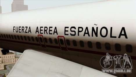 Boeing 707-300 Fuerza Aerea Espanola pour GTA San Andreas vue arrière