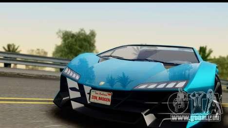 GTA 5 Zentorno Cabrio für GTA San Andreas zurück linke Ansicht