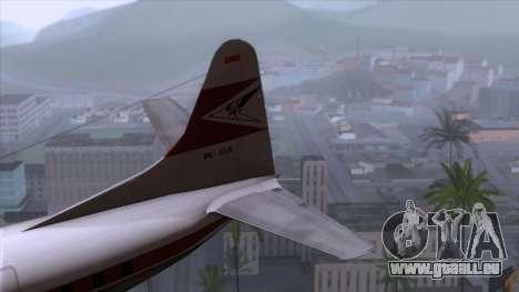 L-188 Electra Garuda Indonesia für GTA San Andreas zurück linke Ansicht