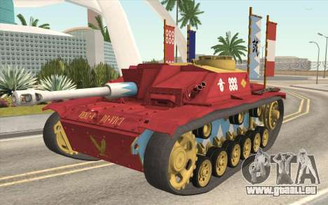 StuG III Ausf. G Girls and Panzer Color Camo für GTA San Andreas