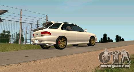 Subaru Impreza Sports Wagon WRX STI pour GTA San Andreas laissé vue