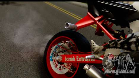 Kawasaki Ninja ZX6R v3.1 Fixed für GTA San Andreas Rückansicht