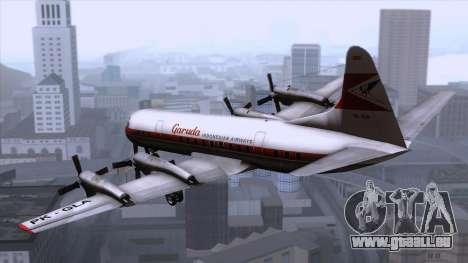 L-188 Electra Garuda Indonesia für GTA San Andreas linke Ansicht