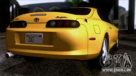 Toyota Supra S-Spec (JZA80) 1993 ECO APT pour GTA San Andreas laissé vue