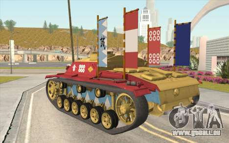 StuG III Ausf. G Girls and Panzer Color Camo für GTA San Andreas linke Ansicht