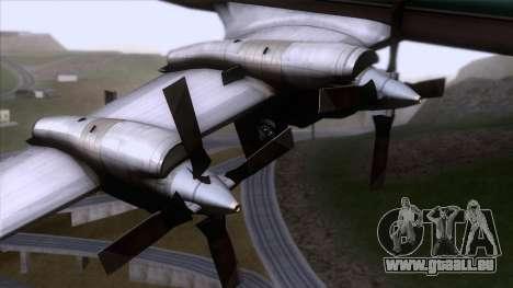 L-188 Electra Air New Zealand für GTA San Andreas rechten Ansicht