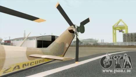 Savage GTA 5 v1.1 für GTA San Andreas zurück linke Ansicht