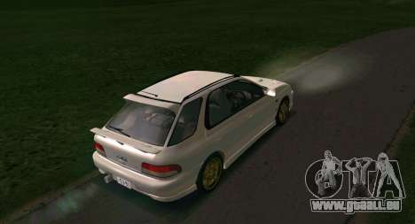 Subaru Impreza Sports Wagon WRX STI pour GTA San Andreas vue de droite