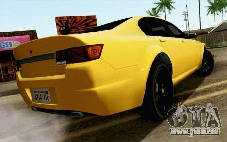 GTA 5 Cheval Fugitif FIV АПП pour GTA San Andreas laissé vue