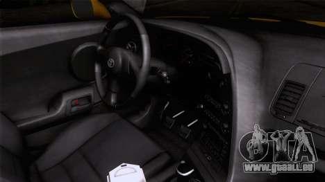 Toyota Supra S-Spec (JZA80) 1993 ÖKO-App für GTA San Andreas rechten Ansicht