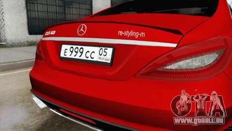 Mercedes-Menz CLS63 AMG für GTA San Andreas Rückansicht