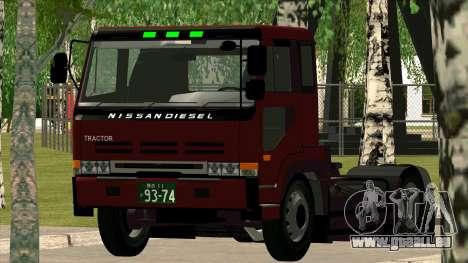 Nissan Diesel Bigthumb CK pour GTA San Andreas vue de droite