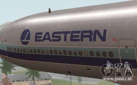 Lookheed L-1011 Eastern Als pour GTA San Andreas vue arrière