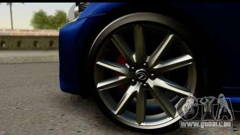 Lexus GS350 pour GTA San Andreas vue de droite