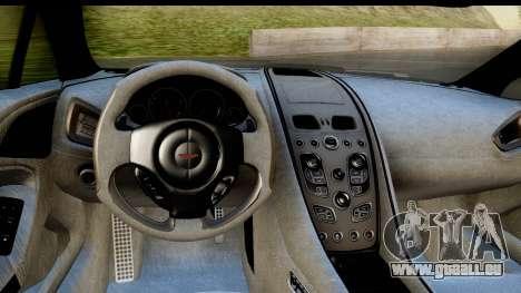 Aston Martin Vanquish 2013 Road version pour GTA San Andreas vue arrière