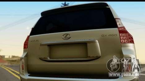 Lexus GX460 pour GTA San Andreas vue de droite