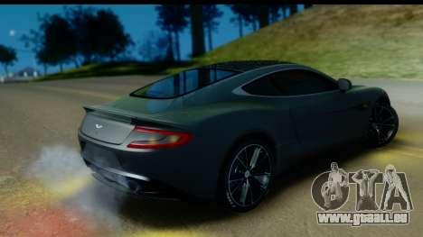 Aston Martin Vanquish 2013 Road version pour GTA San Andreas vue intérieure