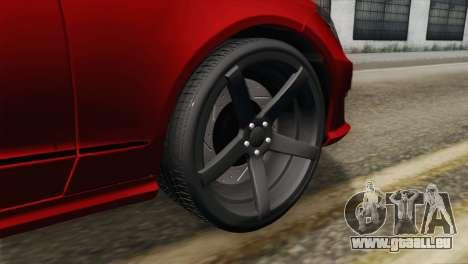 Mercedes-Menz CLS63 AMG für GTA San Andreas zurück linke Ansicht
