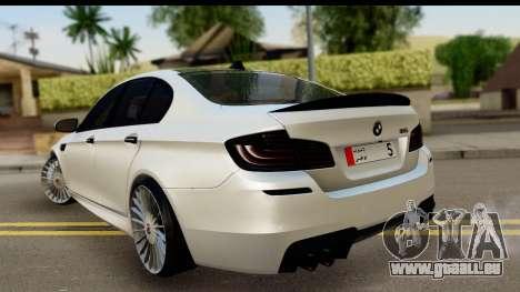 BMW M5 F10 für GTA San Andreas linke Ansicht