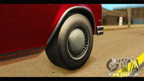 GTA 5 Benefactor Glendale IVF pour GTA San Andreas sur la vue arrière gauche