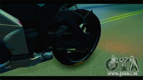 Kawasaki Ninja ZX-10R Super Sonico Itansha für GTA San Andreas Rückansicht