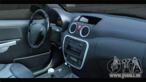 Citroen C2 pour GTA San Andreas vue de droite