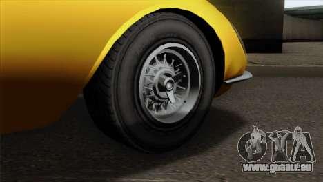GTA 5 Grotti Stinger v2 pour GTA San Andreas sur la vue arrière gauche