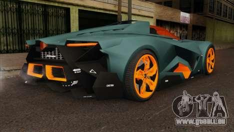 Lamborghini Egoista pour GTA San Andreas laissé vue