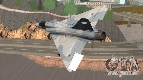 Dassault Mirage 2000 Forca Aerea Brasileira für GTA San Andreas linke Ansicht