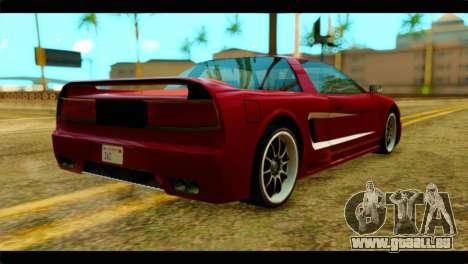 Infernus Rapide S Stock pour GTA San Andreas laissé vue