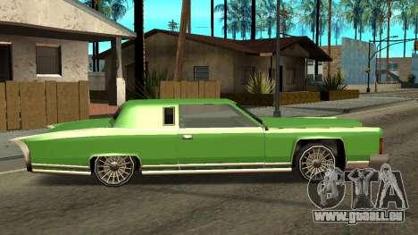 Beta Remington pour GTA San Andreas sur la vue arrière gauche