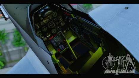 P-51 Mustang Mk4 für GTA San Andreas Rückansicht