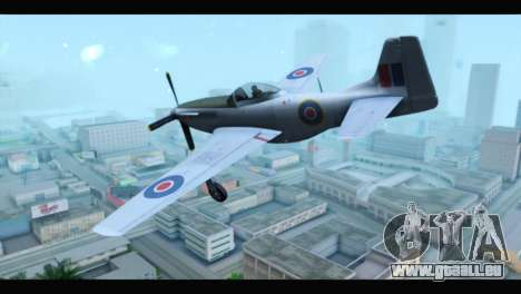 P-51 Mustang Mk4 pour GTA San Andreas laissé vue