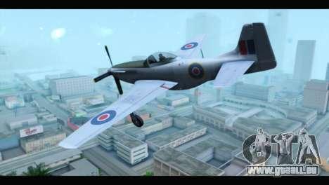 P-51 Mustang Mk4 für GTA San Andreas linke Ansicht