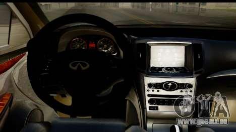 Infiniti JX 35 2013 pour GTA San Andreas vue intérieure
