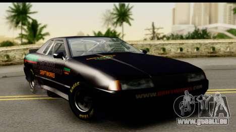 Elegy NASCAR PJ für GTA San Andreas Rückansicht