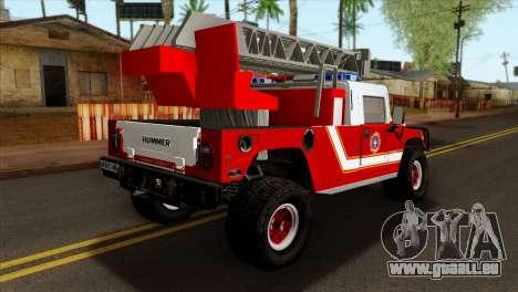 Hummer H1 Fire für GTA San Andreas linke Ansicht