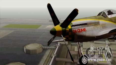 P-51D Mustang Da Quake pour GTA San Andreas vue arrière