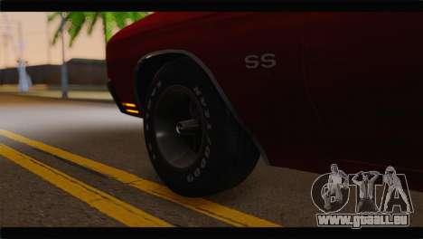 Chevrolet Chevelle 1970 Flat Shadow pour GTA San Andreas sur la vue arrière gauche