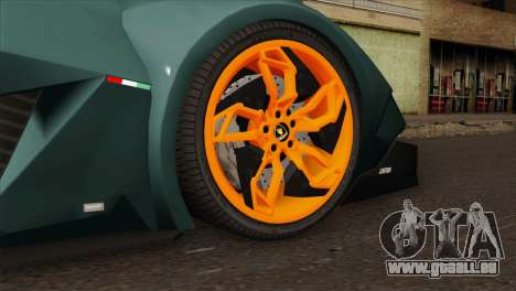 Lamborghini Egoista für GTA San Andreas zurück linke Ansicht